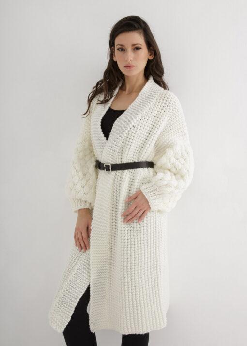 Long cardigan knitting pattern