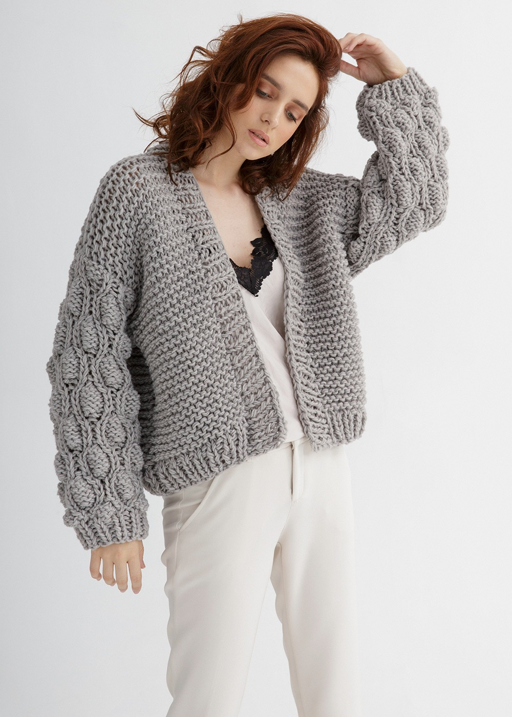Cropped Cardigan Knitting Pattern - Through the Stitch