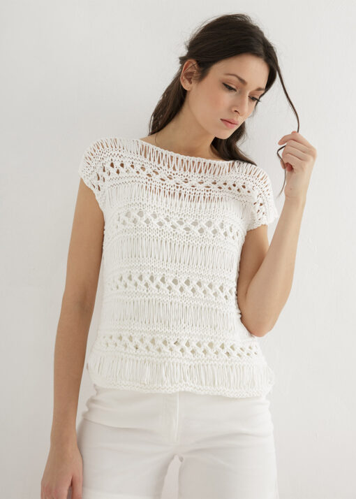 lace top knitted pattern