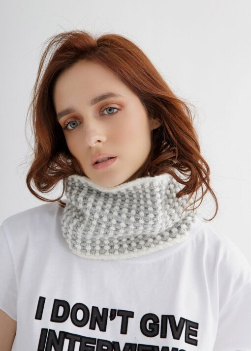 Two-color Cowl Knitting Pattern