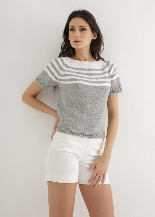 Top-down striped knit pattern