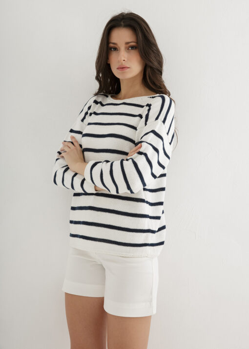 Striped Sweater Knitted Pattern