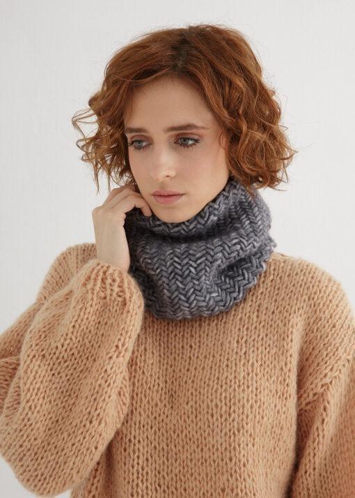 herringbone cowl knit pattern