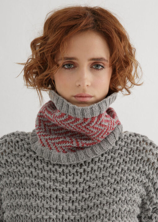 Fair Isle Cowl Knitting Pattern
